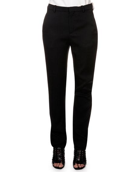 Lanvin Flat Front Trousers, Black
