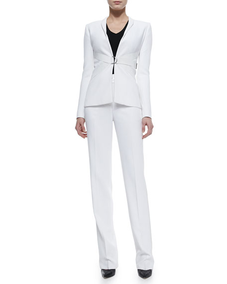 High-Waist Tux-Striped Pants
