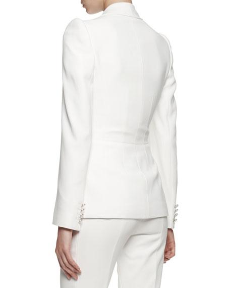 Single-Button Shawl-Collar Jacket