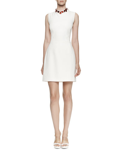 Alexander McQueen Sleeveless Heart-Embellished Dress
