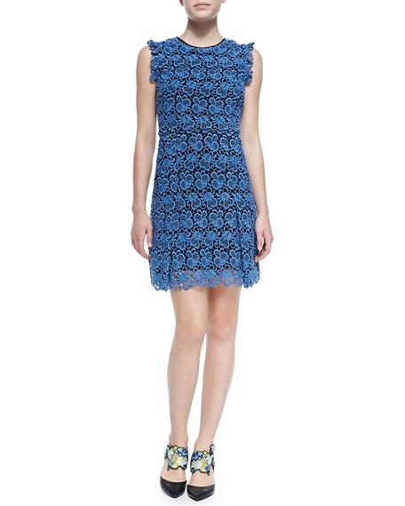 Erdem Rainie Sleeveless Lace Shift Dress