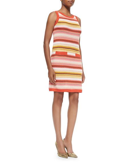 Missoni Zigzag-Striped Tank Dress