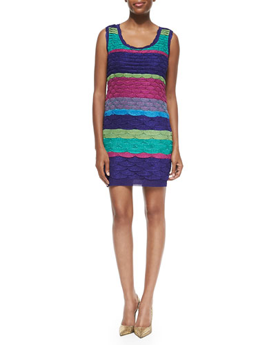 Multicolor Fish Scale Tank Dress