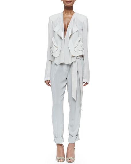 Donna Karan Long-Sleeve Fluid Drape Jacket