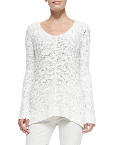 Chunky-Knit V-Neck Sweater