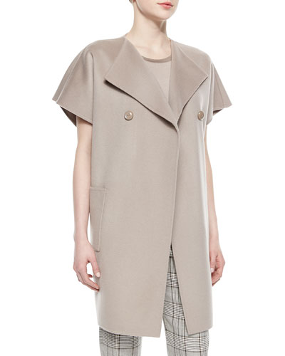 Double-Faced Wool-Cashmere Cocoon Jacket