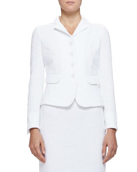 Armani Collezioni Cotton Boucle Suit Jacket