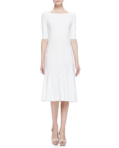 Armani Collezioni Seamless Knit Short-Sleeve Dress