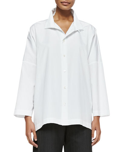 eskandar Long-Sleeve Imperial Two-Collar Shirt