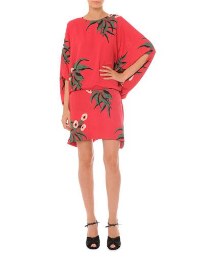 Mokara Printed Blouson Dress