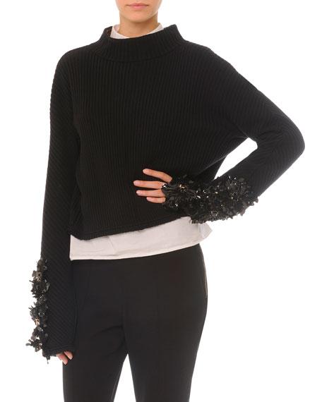 Marni Embellished Split-Back Sweater