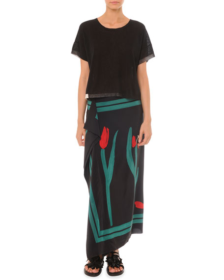 Painted Cascade Long Skirt
