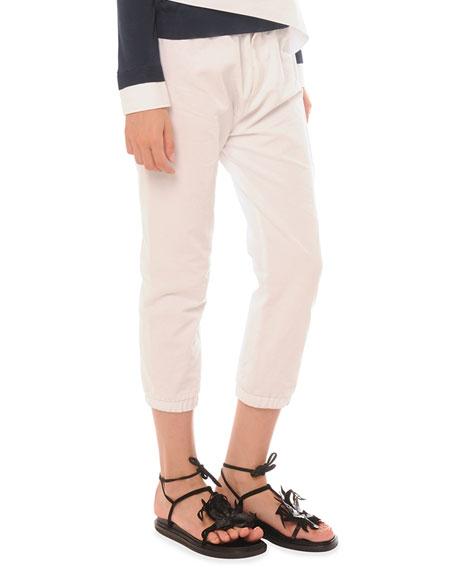 Marni Elastic Cotton-Linen Ankle Pants