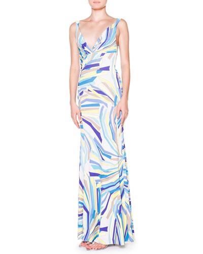 Emilio Pucci Side-Ruched Tank Maxi Dress
