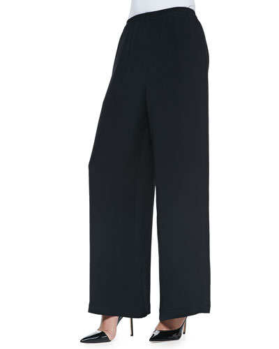 eskandar Flared Trousers, Black