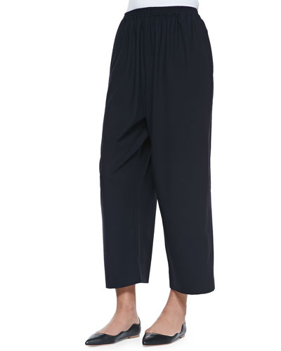 eskandar Japanese Trousers, Navy