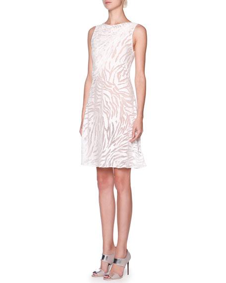 Giorgio Armani Zebra Print Drape Front Dress