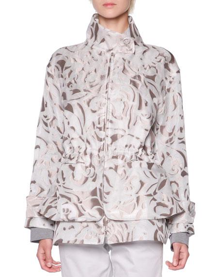 Giorgio Armani Floral Mesh Jacquard Jacket