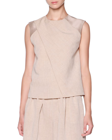 Giorgio Armani Front-Panel Draped Top