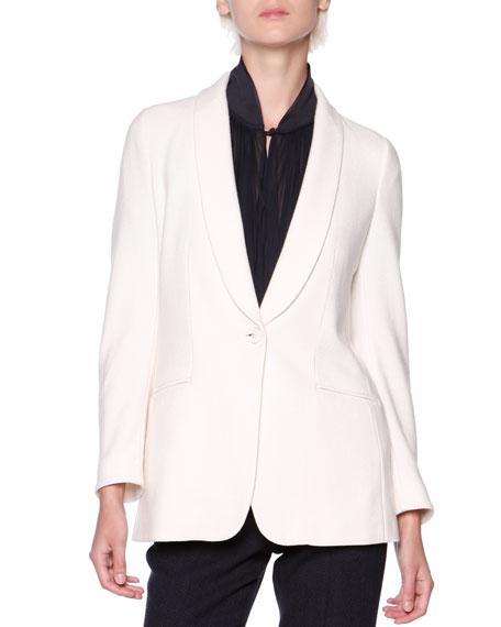 Giorgio Armani Silk/Cashmere Shawl-Collar Jacket
