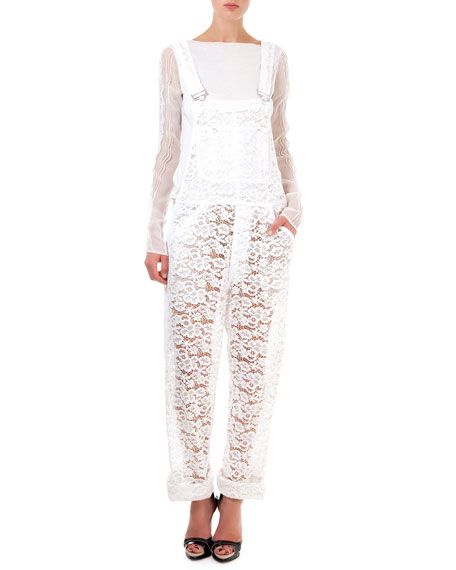 Lace Overalls, Natural