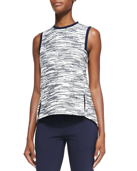 Derek Lam Novelty Jersey Sleeveless Top