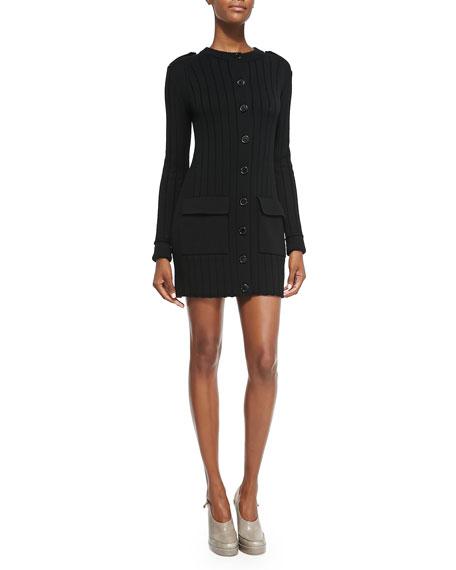 Derek Lam Long-Sleeve Button-Down Sweaterdress