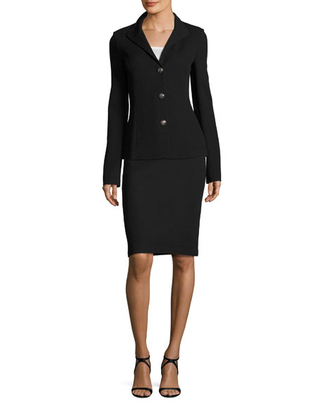 Milano Pique Knit Pencil Skirt