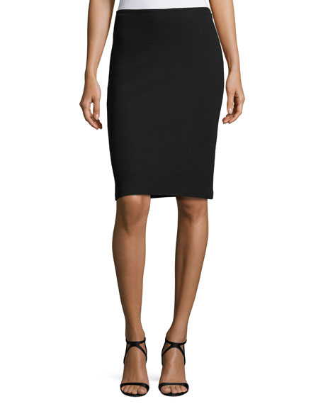 St. John Collection Milano Pique Knit Pencil Skirt