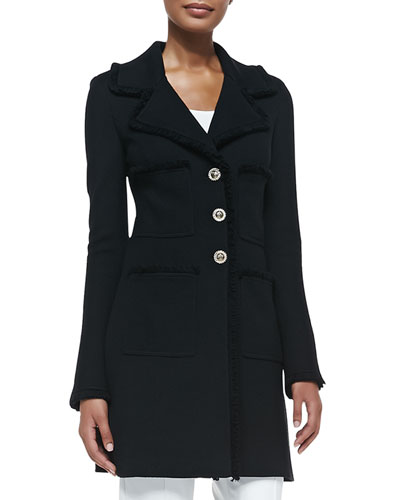 Milano Pique Knit Topper Jacket, Caviar Online Cheap