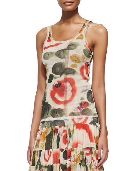 Jean Paul Gaultier Printed Garden Tank Top and