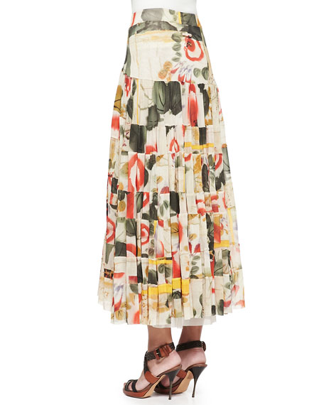 Printed Garden Tiered Skirt
