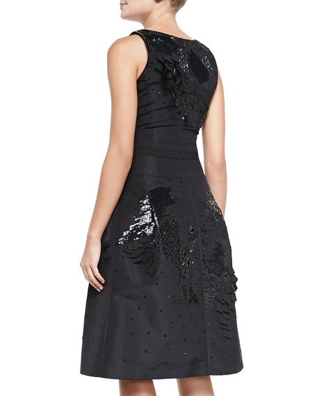 Beaded Embroidered Cocktail Dress