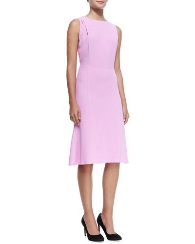 Carolina Herrera A-Line Dress W/ Pleated Shoulders