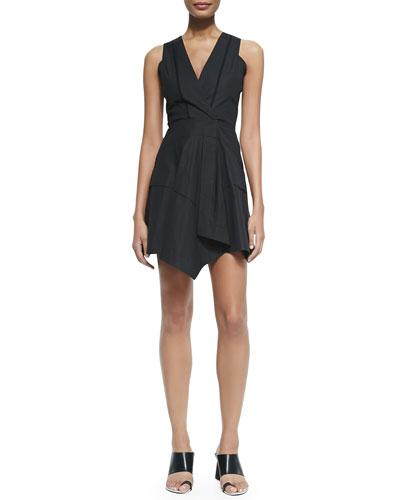 Sleeveless Dress W/ Asymmetric Hem