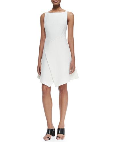 Sleeveless Dress W/ Scissor-Hem Front