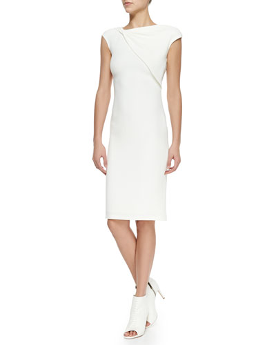 Lawson Twist-Neck Silk Sheath Dress