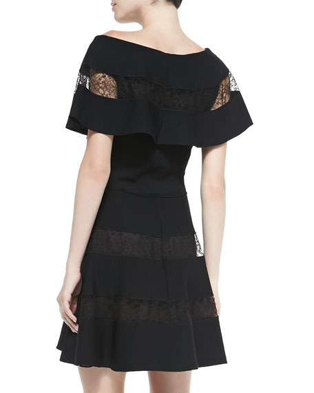Off-the-Shoulder Lace-Tier Dress