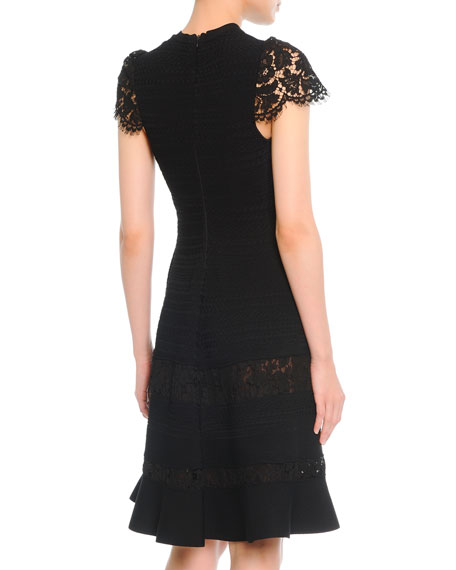Fit-and-Flare Dress with Lace
