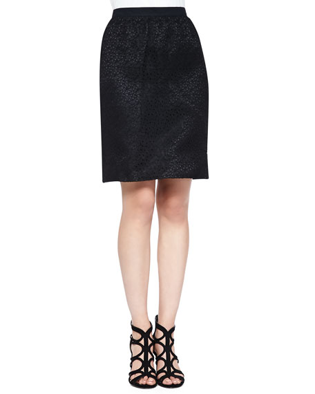 Jason Wu Corded Lace Skirt, Black
