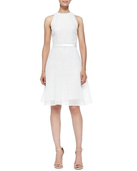Jason Wu Corded Lace Dress W/ Flounce Hem