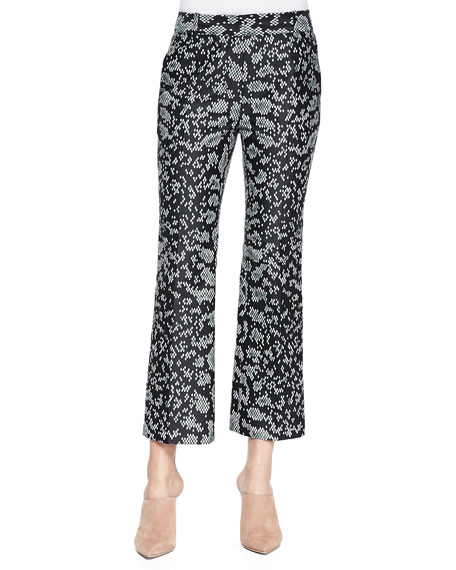 3.1 Phillip Lim Snake-Print Cropped Flared Pants