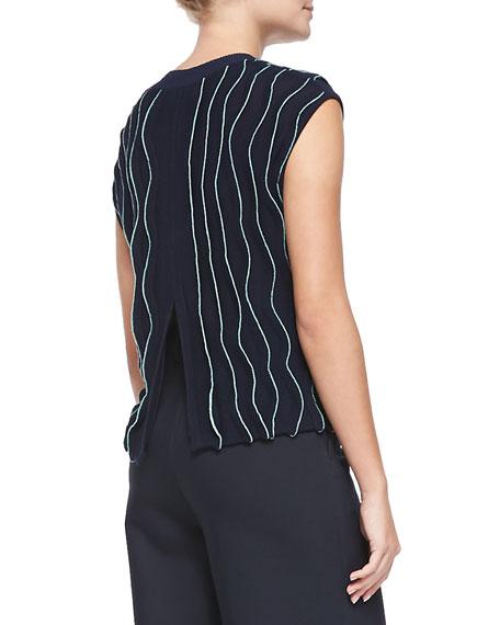 dc88f7fe560695 3.1 Phillip Lim Sleeveless Thread-Wave Pullover Sweater