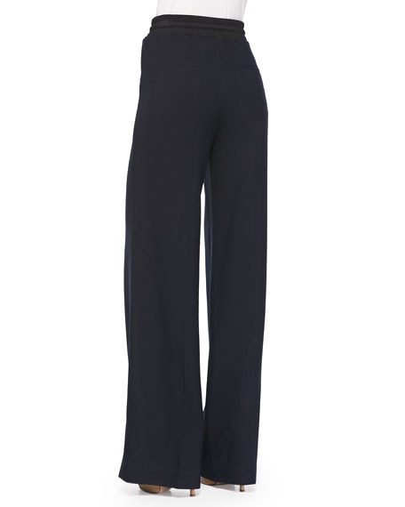 3.1 Phillip Lim Wide-Leg Wool Pants W/ Drawstring