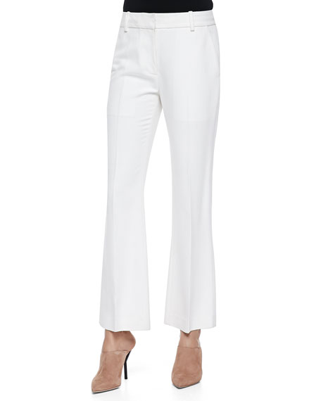 3.1 Phillip Lim Cropped Flared Pants, Ivory
