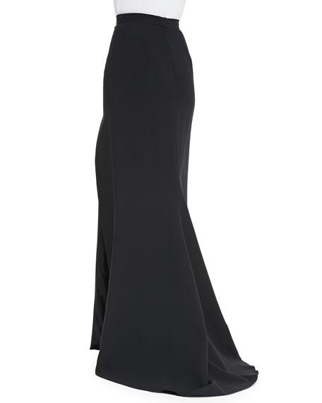 Long Skirt with High Slit, Noir