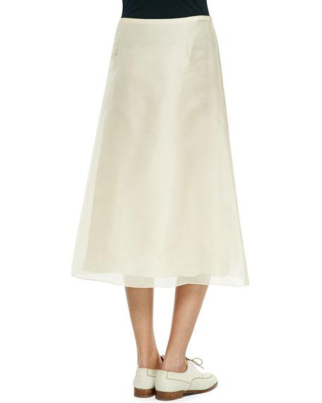 the row flowy chiffon midi skirt