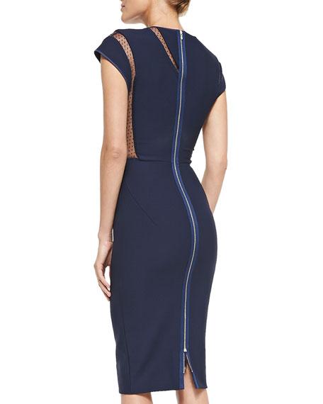 Point d'Esprit & Crepe Dress