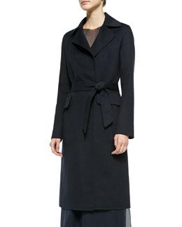 Wool Self-Tie Trench Coat