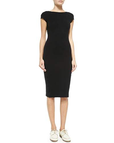 THE ROW Scoop-Back Fitted Jersey Dress